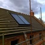 Solar thermal installation, Nottingham