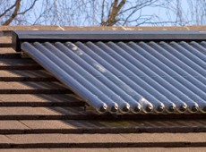 A Lime-Circle solar thermal installation