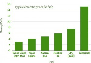 Typical domestic prices for fuels