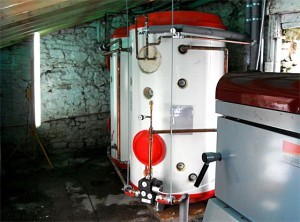 Lime-Circle biomass boiler installation in a barn conversion