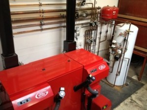 Two biomass boilers installed at a Nottingham builders merchants by Lime-Circle