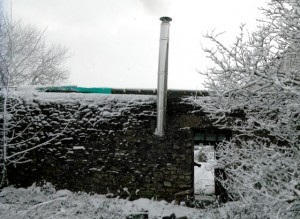 Our biomass boiler installers keep Green Farm warm in the depths of winter