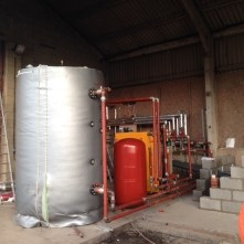 A biomass boiler installed by Lime-Circle Renewable Energy