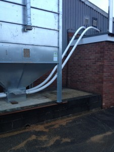 Biomass boiler installation on a farm in Nottinghamshire