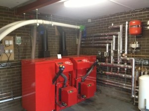 Lime-Circle biomass boiler installation for Chartway Industrial Services