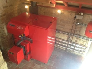 Lime-Circle biomass boiler installation in Nottingham