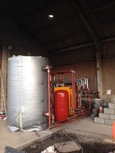 A Lime-Circle biomass boiler installation at Hawton Farm