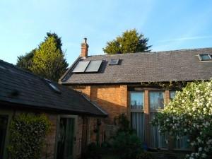 Lime Circle solar thermal installation, Nottingham