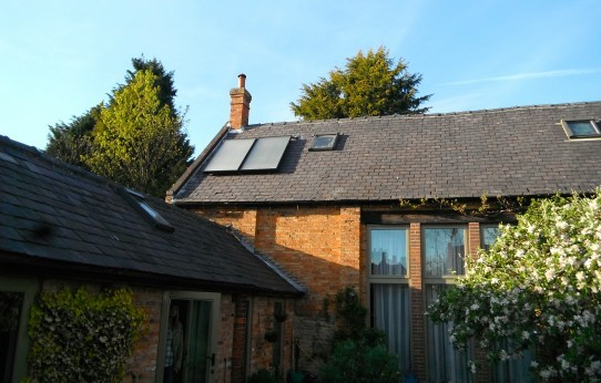 Lime Circle solar thermal installation, Nottingham